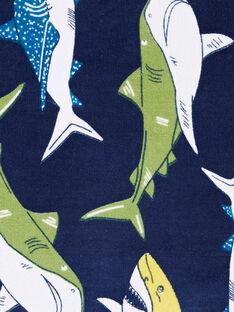 Marineblaues Strandtuch Junge LYOMERSERVEX / 21SI02D2SRV070