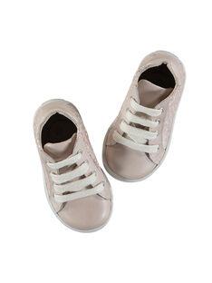 Sportschuhe aus Leder für Babys Mädchen FBFBASLIS / 19SK3742D3F030