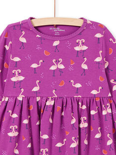 Mädchen lila Nachthemd mit rosa Flamingos und Wassermelonen MEFACHUFLA / 21WH1131CHN712