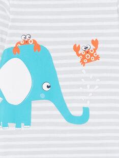Elefant gestreifter langärmeliger Jungen-Body LEGABODELE / 21SH1423BDL000