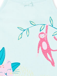 Blaues Nachthemd Kind Mädchen LEFACHURAG / 21SH11C2CHN219