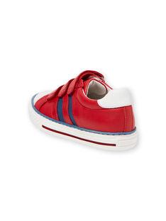 Rote und blaue Turnschuhe Junge Kind JGBASLIAGR / 20SK36Y2D3F050
