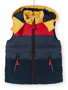 Ärmellose Kapuzenjacke in Marineblau und Rot für Jungen LOGRODOU2 / 21S902R5BLO705