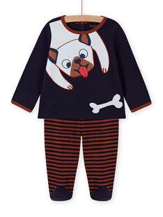 Baby Junge Hund Druck Pyjama Set MEGAPYJDOG / 21WH1481PYJC205