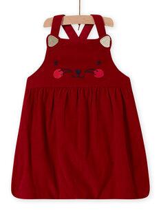 Baby Mädchen Rot Samt Katze Kleid MIMIXROB2 / 21WG09J3ROB511