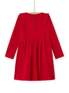 Langärmeliges milano Kleid für Mädchen mit Rüschen MACOMROB3 / 21W901L2ROB408