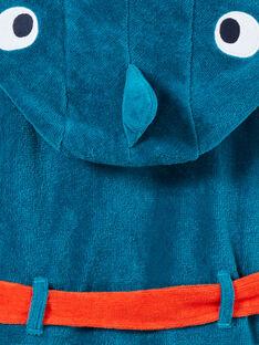 Türkisfarbener Frottee-Morgenmantel für Jungen mit Hai-Muster LEGOPEIREQ / 21SH1251RDCC217