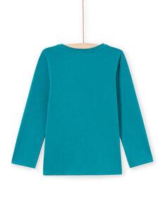 Mädchen-T-Shirt in dunklem Türkis MAJOYTEE6 / 21W9012ATMLC217