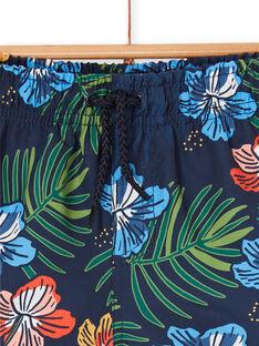 Nachtblaue Badeshorts für Jungen LYOMERBOXTRO / 21SI02DCMAI705