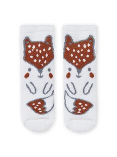 Socken mit Fuchsmuster für Jungen MOU1CHO2 / 21WF4141SOQ001