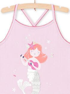 Fliederfarbener Schlafanzug für Mädchen LEFAPYJMER / 21SH11C8PYJH700