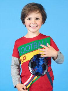 Rotes und grünes T-Shirt für Jungen LOHATEE / 21S902X1TML050