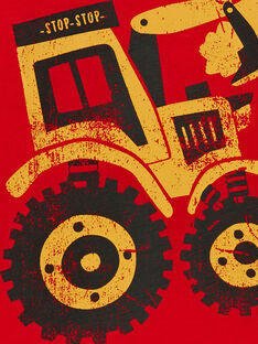 Rotes Baumwoll-T-Shirt für Jungen LOJOTEE3 / 21S90232TML050