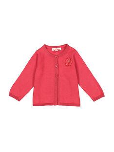 Rosafarbene Baby-Weste für Mädchen FIJOCAR2 / 19SG0932CAR308