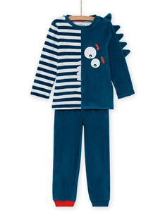 Blau phosphoreszierendes Pyjama-Set mit Krokodil-Muster für Jungen MEGOPYJVER / 21WH1231PYJC225