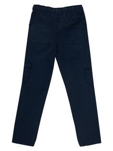 Elastische Umstandshose mit marineblauen Seitentaschen JOJOPAMAT1 / 20S90254D2B705