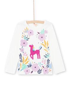 Baby Mädchen Weiß und Rosa T-Shirt MAPLATEE2 / 21W901O1TML001