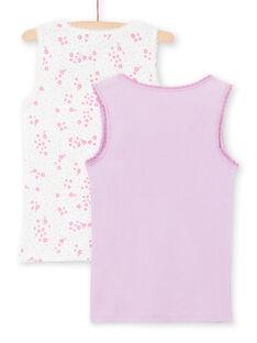 Satz von 2 sortierten weißen und lila Tank Tops für Baby-Mädchen MEFADERIB / 21WH11B3HLI001