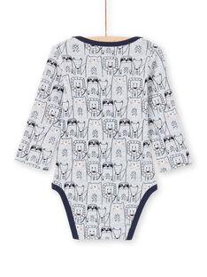 Baby Junge grau und marineblau Strampelanzug MEGABODAMI / 21WH14B5BDLJ920