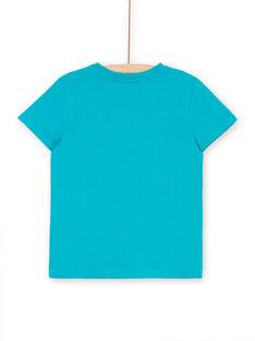 Türkisfarbenes T-Shirt für Jungen LOJOTI8 / 21S902F4TMCC242