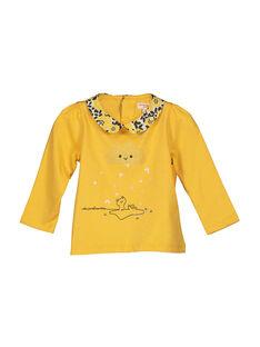 Baby-T-Shirt mit Claudine-Kragen für Mädchen FILIBRA / 19SG0921BRA103