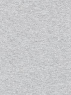 Grau meliertes T-Shirt - kurze Ärmel - Kind Junge LOJOTI2 / 21S90233TMCJ922