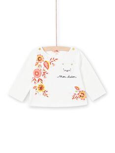 Weißes T-shirt lange Ärmel Baby Mädchen LINAUTEE / 21SG09L1TML001