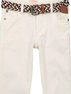 Weiße Jeans mit Gürtel für Jungen FOJOUPAN1 / 19S902T1PAN000