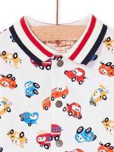 Graues und rotes Baby Jungen Auto Druck Shirt LUHACHEM / 21SG10X1CHM001