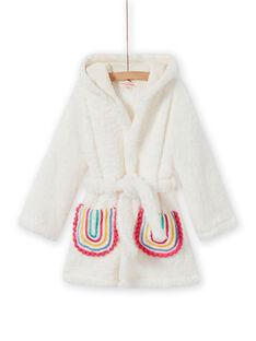 Morgenmantel aus Lama und Regenbogen-Sherpa für Mädchen MEFAROBLAM / 21WH1191RDC001