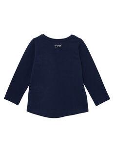 Marineblaues langärmeliges T-Shirt JAESTEE2 / 20S90165D32070