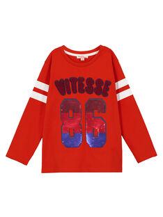 Langärmeliges T-Shirt Orange GOSANTEE2 / 19W902C1TML405