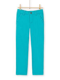 Blaue Baumwollhosen für Jungen LOJOPACHI3 / 21S90236PANC215