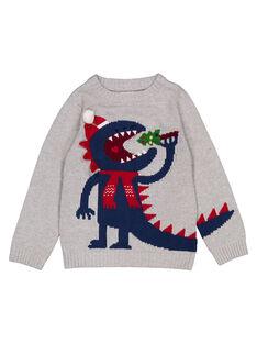Grauer Weihnachtspullover GONOPUL / 19W902V1PUL943