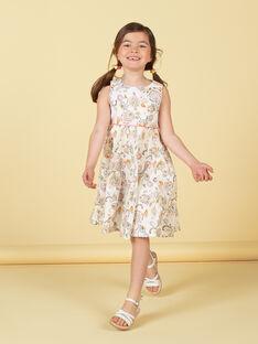 Kleid aus Kaschmir und Gelb mit Kaschmir-Print LAPOEROB1 / 21S901Y1ROB001