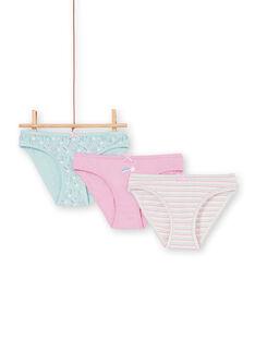 3er-Set rosa, blau und ecru Höschen für Kinder und Mädchen LEFALOT6 / 21SH1124D5L320
