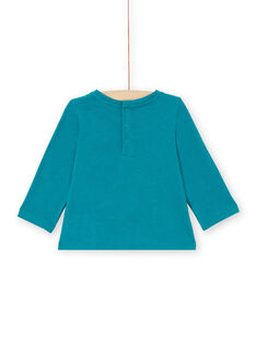 Baby Girl's Blue Duck Blume und Koala Langarm T-Shirt MITUTEE2 / 21WG09K2TMLC217