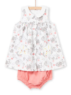 Weißes Baby Mädchen Outfit LOU2ENS1 / 21SF03I1ENS000