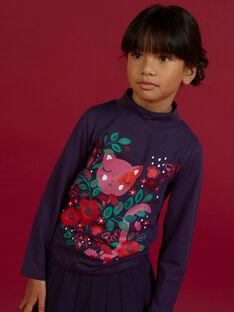 Lila Rollkragen-T-Shirt mit einem Fantasy-Motiv für Mädchen MAFUNSOUP / 21W901M1SPLH703