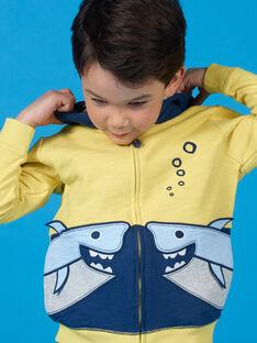 Gelber und blauer Kapuzenpulli - Boy's boy LONAUGIL / 21S902P1GILB102