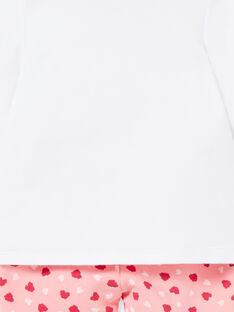 Baby-Pyjama für Mädchen aus Fleece mit Himbeermuster LEFIPYJFRA / 21SH1351PYJD308