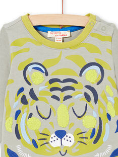 Baby Boy's Grün & Khaki T-Shirt MUKATEE3 / 21WG10I1TMLG622