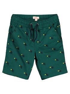 Grüne Bermuda-Shorts aus besticktem Twill GOVEBER1 / 19W90221BERG614