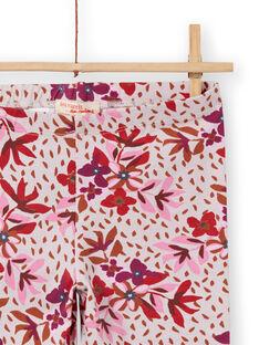 Rosa Leggings für Mädchen mit Blumendruck MYACOMLEG / 21WI01L1CALD329
