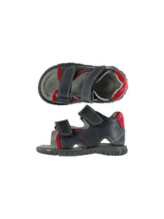 Sandalen aus Leder für draußen Babys Jungen FBGSANDAT / 19SK38K3D0E940