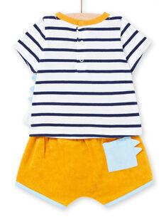 Baby Boy Frottee-Shorts und Jersey-T-Shirt-Set LUPLAENS1 / 21SG10T2ENS000