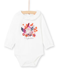 Baby Girl's White and Coloured Bodysuit MIPABOD / 21WG09H2BOD001