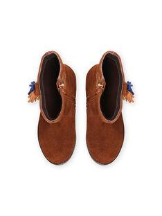 Hohe Stiefel aus Kamelleder und Quasten für Kind Mädchen MABOTTEMEL / 21XK3584D10804