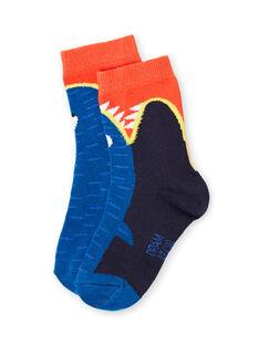 Blaue Socken Baby Junge LYONAUCHO1 / 21SI02P1SOQC228
