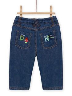 Baby Junge mittelgroße Denim-Jeans MUPLAJEAN / 21WG10O1JEAP274